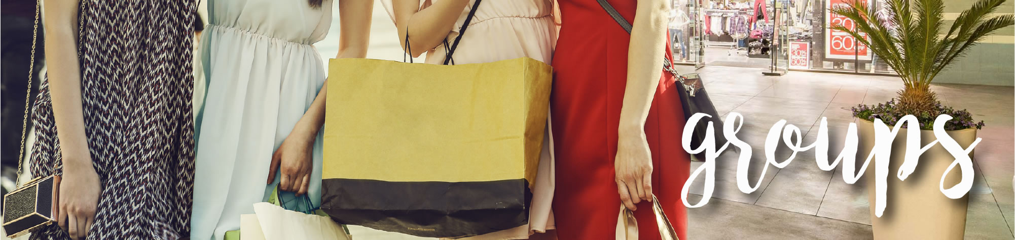 Groups / 4 Women with Shopping Bags